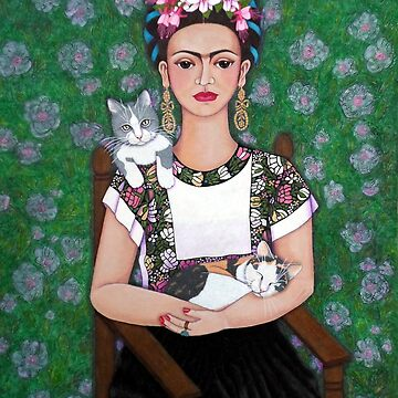 Frida cat lover by madalenalobaote