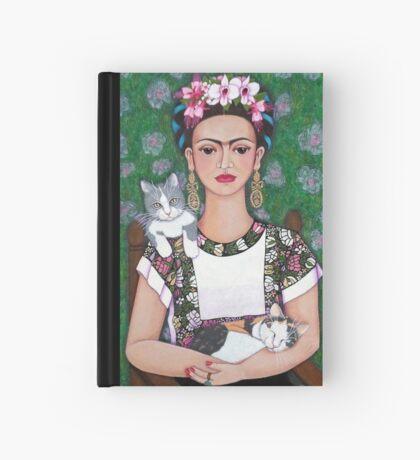 Frida cat lover Hardcover Journal