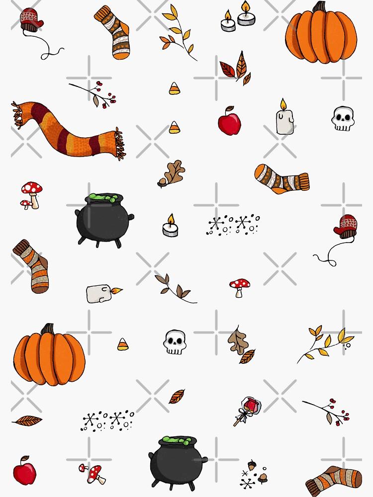 Autumn Stickers by katherineblower