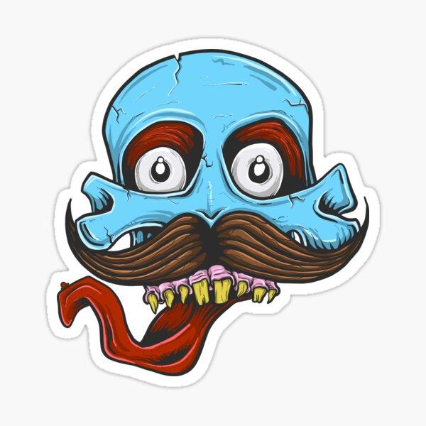 Skull'tash Sticker