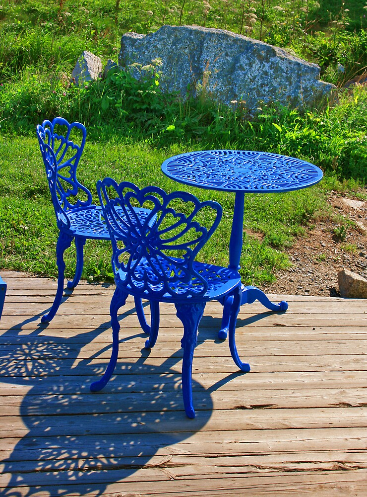 Blue Chairs and Table by John  Goodman