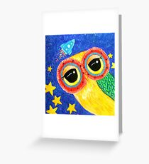 First Owl In Space Greeting Card