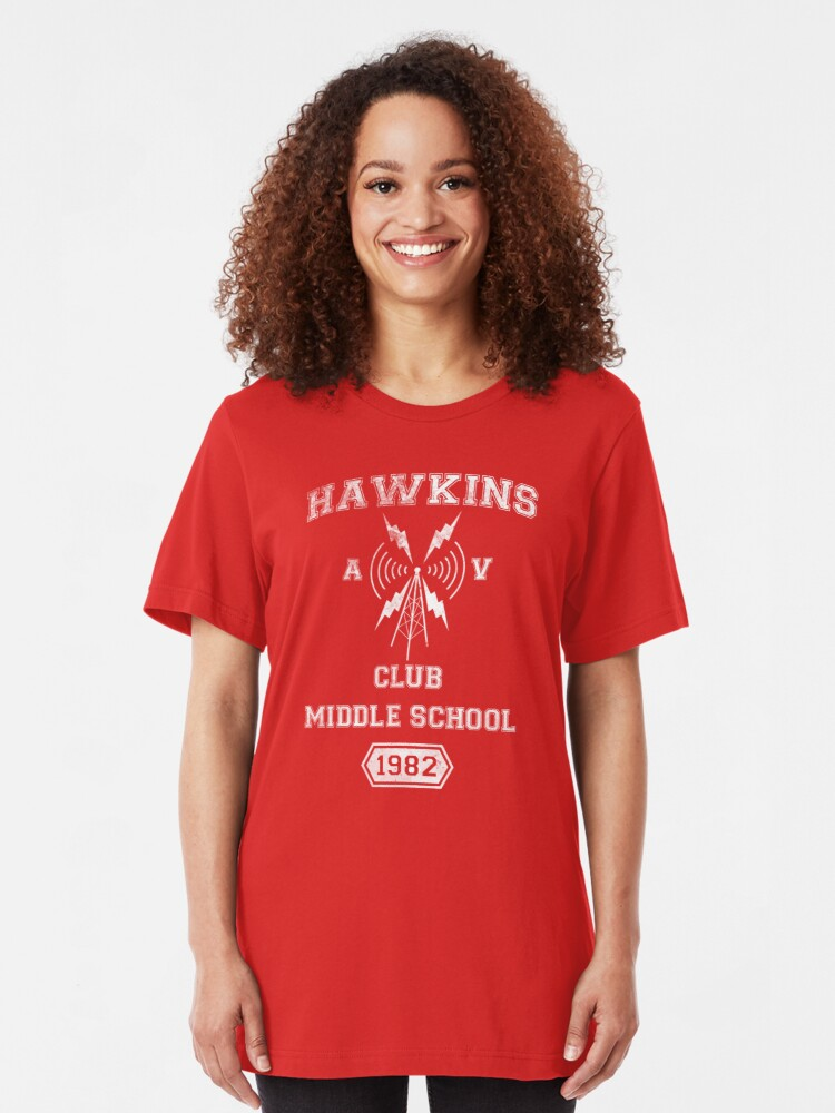 Alternate view of Hawkins AV Club Slim Fit T-Shirt