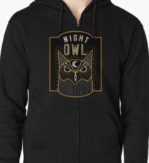 Night Owl Zipped Hoodie