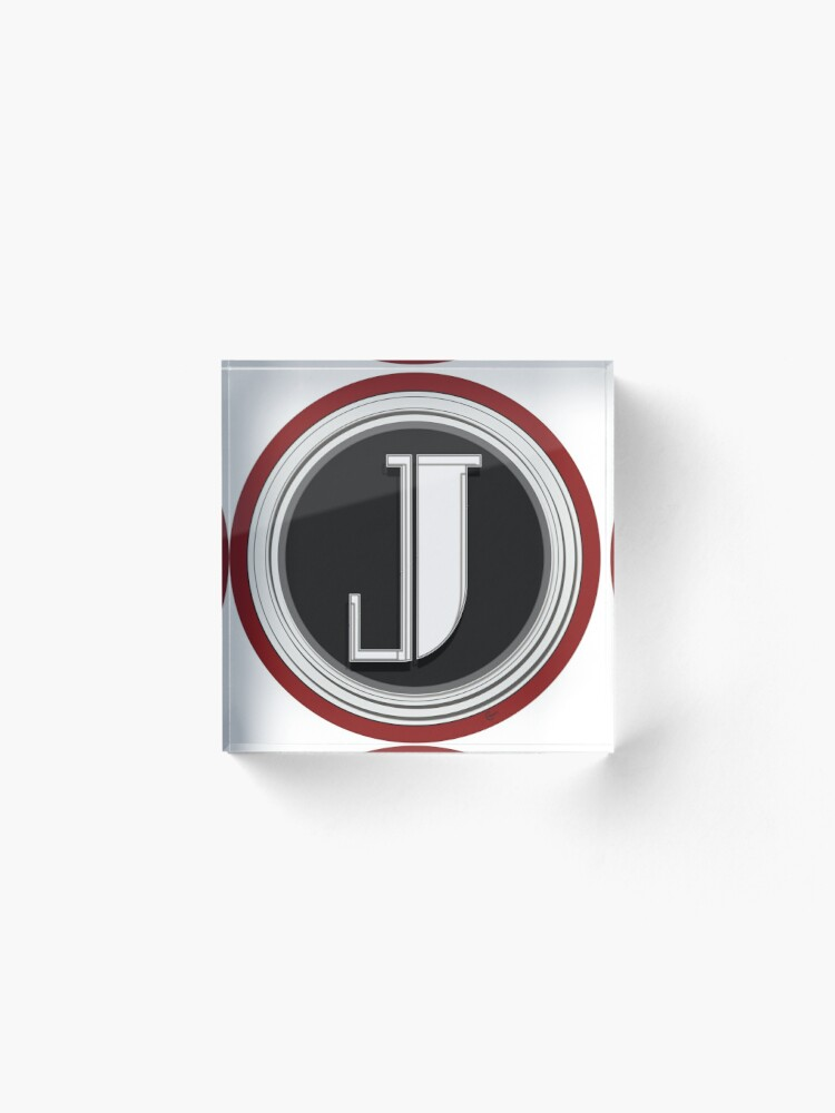 Alternate view of Deco Cafe Marquee  Monogram  letter J Acrylic Block