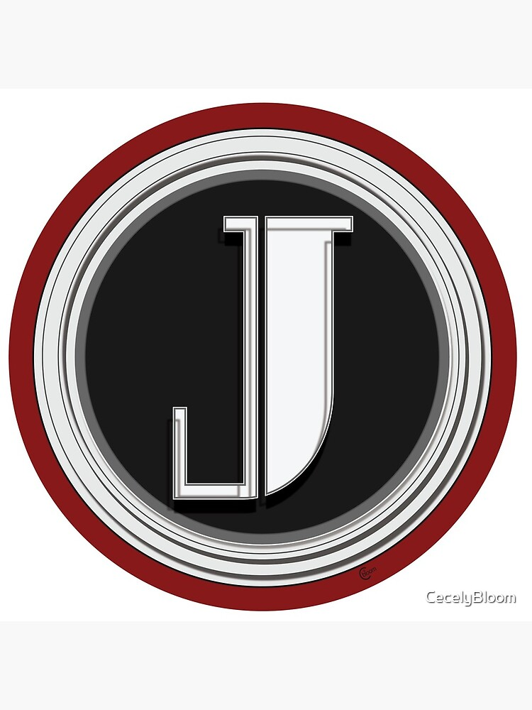 Deco Cafe Marquee  Monogram  letter J by CecelyBloom