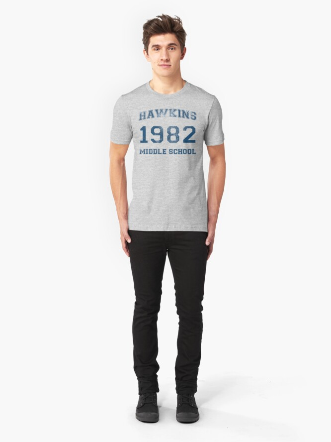 Alternate view of Hawkins 1982 Slim Fit T-Shirt