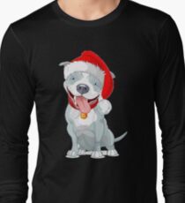 Cute Pit Bull Christmas Santa Shirt And Mug  T-Shirt