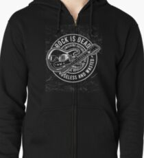 Rock is Dead Useless and Wasted  Zipped Hoodie