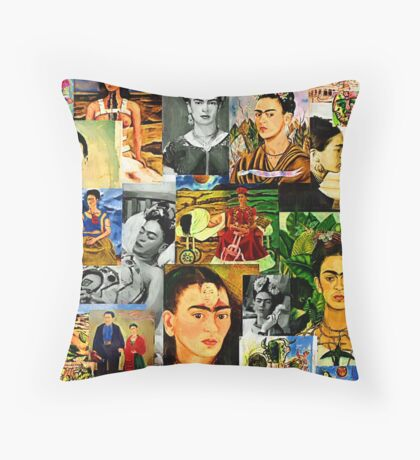 Obsessed with Frida Kahlo Throw Pillow