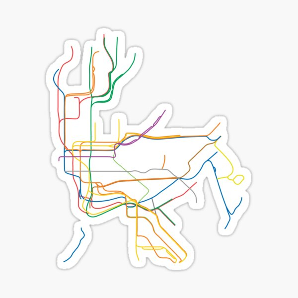 New York City Subway Sticker