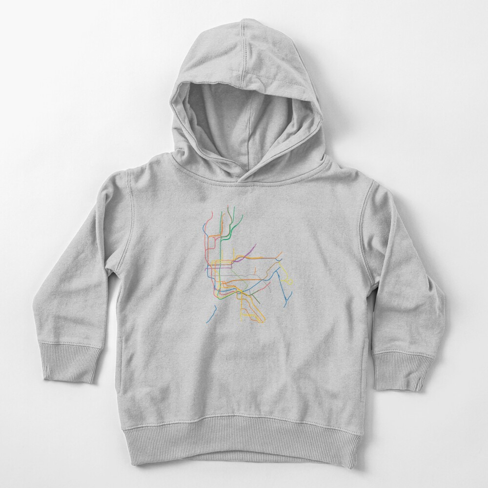 New York City Subway Toddler Pullover Hoodie