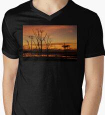 Tranquil Devonian Sunset Men's V-Neck T-Shirt