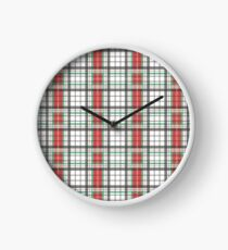 Classic Plaid Clock