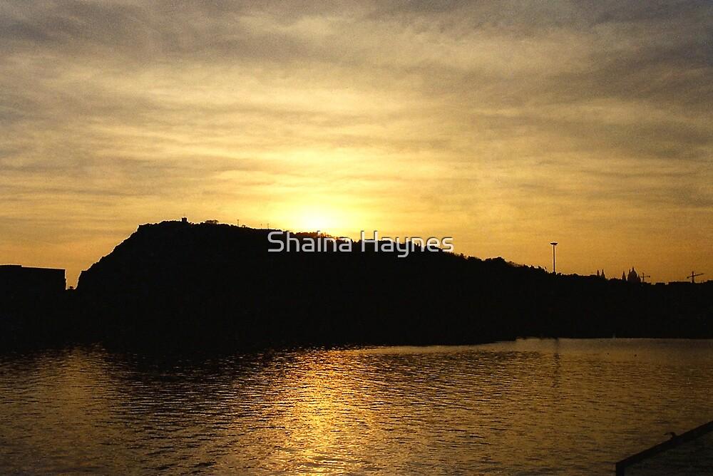 Sunset over Port de Barcelona by Shaina Haynes