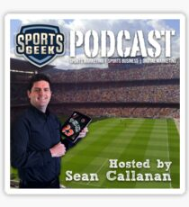 Sports Geek Podcast Cover Art Sticker