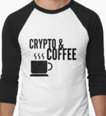 Coffee and Crypto Cryptocurrency HODL Gift Idea Men's Baseball ¾ T-Shirt