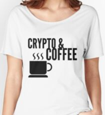 Coffee and Crypto Cryptocurrency HODL Gift Idea Women's Relaxed Fit T-Shirt