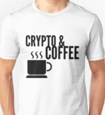 Coffee and Crypto Cryptocurrency HODL Gift Idea Unisex T-Shirt
