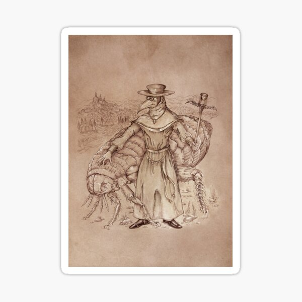 Doctor Schnabel's Siphonaptera Sticker