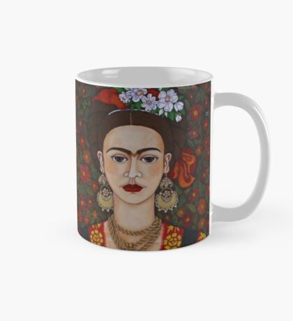 Frida Kahlo with butterflies Mug