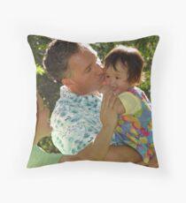 A Daddy's Kiss Throw Pillow