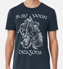 St. George - SAGT DEINE DRACHEN, Text Premium T-Shirt