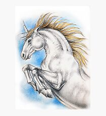 Unicorn Equine Watercolor Photographic Print