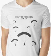 PUBG School Men's V-Neck T-Shirt