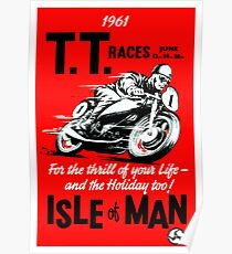 1961 Isle of Man TT Motorcycle Race Poster  Poster