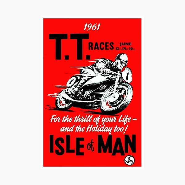 OLD VINTAGE MOTORCYCLE RACING SPEEDWAY RACETRACK ART GRAPHICS POSTER PRINT RACER
