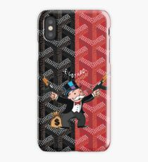 Black Red Goyard Monopoly  iPhone Case/Skin