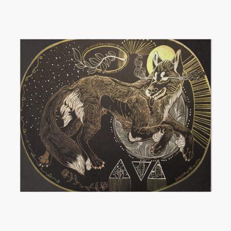 Desert wolf Art Board Print