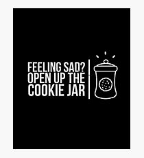 Feeling Sad? Open Up The Cookie Jar  - Cookies, Chocolate Chip Cookie, Pastries, Biscuits Photographic Print