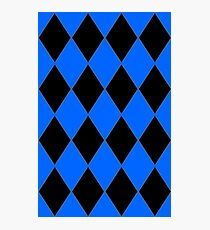 BLUE AND BLACK HARLEQUIN Photographic Print