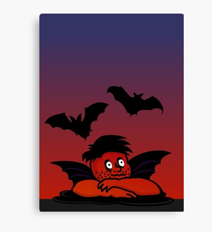 Raffaels little evil twin putte VRS2 Canvas Print