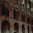 North wall of Nave St Remis Reims France 19840823 0054  by Fred Mitchell