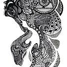 Zentangle Frau von Amparo Cortes