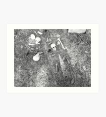 Halloween - Skulls on the ground Art Print