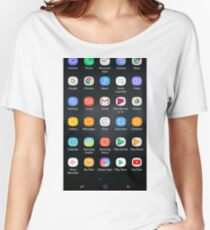 Android apps Women's Relaxed Fit T-Shirt