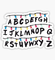 Stranger Things Alphabet Lights Sticker
