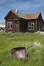 Bodie House and a Wheelbarrow by photosbyflood