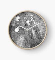 Halloween - Skulls on the ground Clock