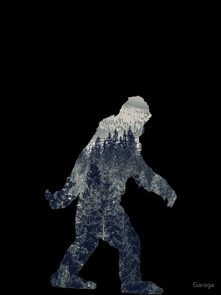 A Sasquatch Silhouette in The North by Garaga