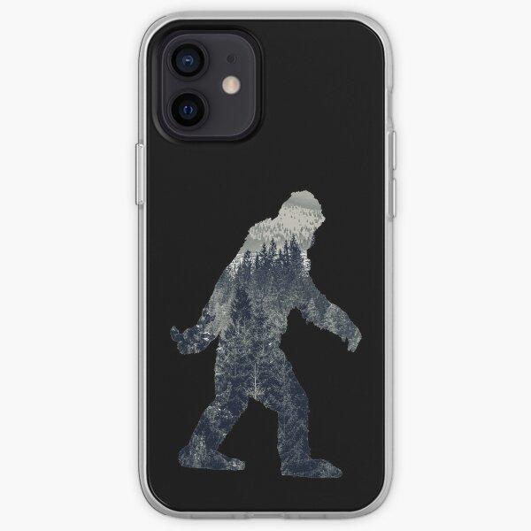 A Sasquatch Silhouette in The North iPhone Soft Case