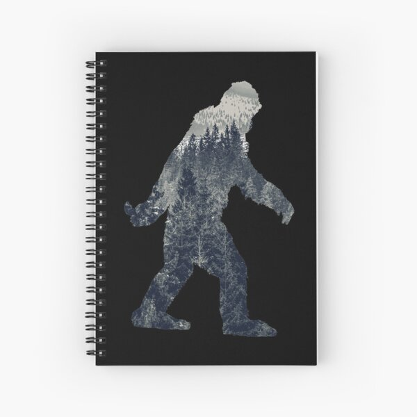 A Sasquatch Silhouette in The North Spiral Notebook