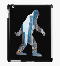 A Sasquatch Silhouette in New York City iPad Case/Skin