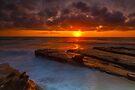 Sunset, La Jolla Cove California by photosbyflood