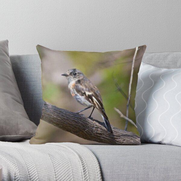 Flame Robin Throw Pillow