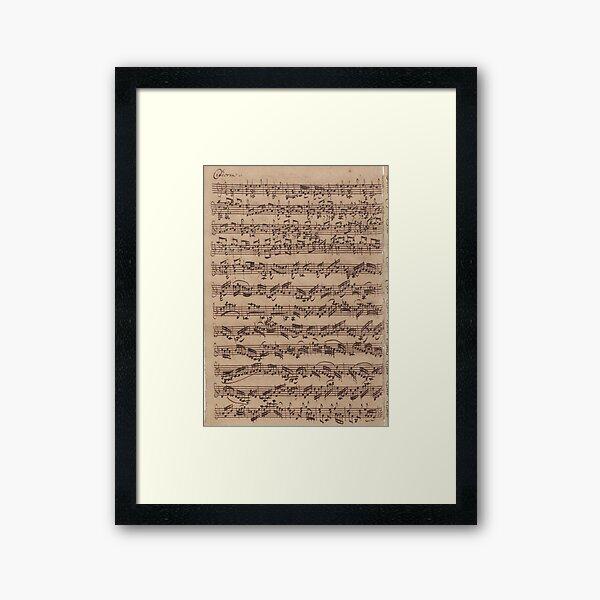 Bach Chaconne Framed Art Print